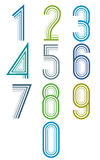 Inner Echo lined numbers vector set. Royalty Free Stock Photo