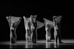 """Inner entanglement-man in a set-Huang Mingliang`s dance""""No shelter"""". Huang Mingliang`s dance""""No shelter"""",Young dancers from Jiangxi stock image"""