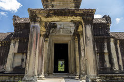 A inner entrance of Angkor Wat Royalty Free Stock Photo