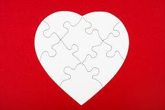 Inner-Form-Puzzlespiel Lizenzfreies Stockfoto
