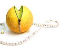 Inner Fruity. Unzipped Concept for Health, Diet, and Beauty royalty free stock photos