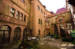 Inner garden of Ksiaz Castle Poland Royalty Free Stock Photos