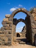 Inner gate of of Belvoir fortress. The Crusader fortress of Belvoir, located on a hill of the Naphtali plateau, 20 km. south of the Sea of Galilee Stock Images