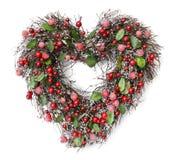 Inner-geformte Weihnachtsgirlande Stockbild