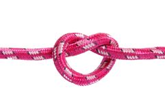 Inner-geformter Knoten auf einem Seil Stockfotos
