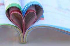 Inner-geformtes Buch Lizenzfreies Stockbild