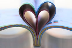 Inner-geformtes Buch Stockfoto