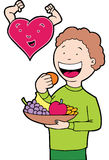 Inner-gesundes Essen Lizenzfreies Stockfoto