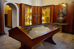 Inner hall of Echmiadzin museum, Yerevan, Armenia Stock Photos