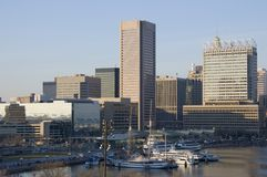 Inner Harbor, Baltimore. Partial view of the Baltimore Inner Harbor Stock Photo