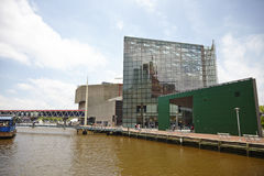 Inner Harbor of Baltimore. Concert Pavilion and commercial buildings along the pier Royalty Free Stock Image