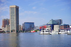 Inner Harbor And Baltimore Skyline royalty free stock photography