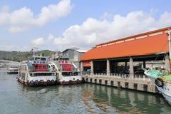 Inner harbor of gushan ferry pier royalty free stock photos