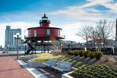 Inner Harbor Lighthouse Royalty Free Stock Photo