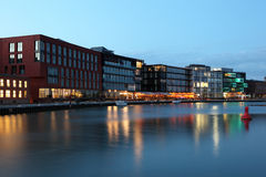 Inner harbor in Munster, Germany Royalty Free Stock Images