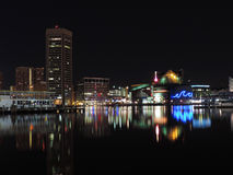 Inner Harbor at Night royalty free stock photos