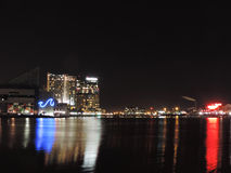Inner Harbor at Night Stock Photography