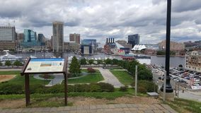 Inner Harbor Skyline stock photography