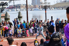 Inner Harbor Street Entertainer Stock Photo