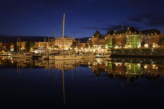 Inner Harbor Twilight, Victoria, British Columbia Stock Photography