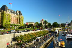 The inner harbor in Victoria,B.C. Stock Photography