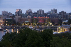 Inner harbor of Victoria BC Stock Photos