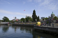 Inner harbor of Victoria BC Stock Photography