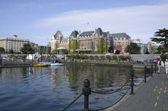 Inner harbor of Victoria BC. Nice view of Victoria BC with Inner Harbor and The Empress Hotel Stock Photos