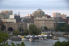 Inner harbor of Victoria BC sunset Royalty Free Stock Photo