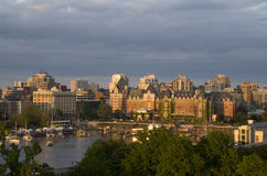 Inner harbor of Victoria BC sunset Royalty Free Stock Photography