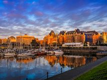 Inner Harbor of Victoria, British Columbia, Vancouver Island, Ca Royalty Free Stock Photos