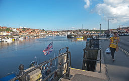 Inner harbor Whitby. Inner harbor at Whitby, an English  holiday resort and fishing port on the north east coast of Yorkshire Stock Photography