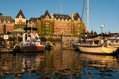 Inner Harbour and Empress Hotel, Victoria, BC, Canada Royalty Free Stock Images