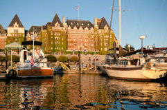 Inner Harbour and Fairmont Empress Hotel, Victoria, BC, Canada Royalty Free Stock Photo