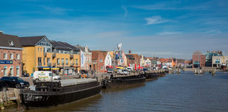 Inner harbour of Husum! Stock Photography
