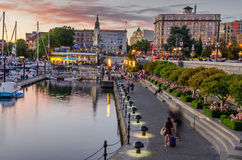 Inner Harbour Pathway at Sunset Royalty Free Stock Image