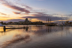 Inner Harbour, Victoria, BC at Dusk. Inner Harbour, Victoria, British Columbia, Canada Royalty Free Stock Photography