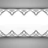 Inner lace decorated baroque chrome frame vector Royalty Free Stock Photos