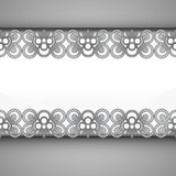 Inner lace decorated baroque silver frame  Stock Photography