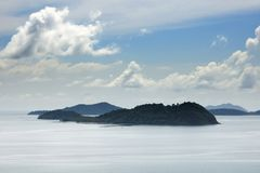 Inner Layola, Middle Layola, Lower Layola, Ko Wai and Ko Rang islands near Koh Chang island, Thailand. royalty free stock image