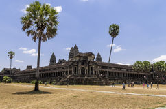 The inner level of Angkor Wat. Angkor, Siem Reap, Cambodia - April 14, 2013 : The northern and western walls of Angkor Wat temple Stock Photos