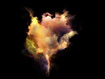 Inner Life of Fractal Nebulae Royalty Free Stock Photography