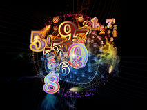 Inner Life of Numbers Royalty Free Stock Images