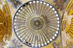 Inner main dome Hagia Sophia Stock Images