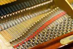 The inner mechanism of the piano piano Stock Images
