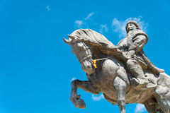 INNER MONGOLIA, CHINA - Aug 10 2015: Kublai Khan Statue at Kubla. I Square in Zhenglan Banner, Xilin Gol, Inner Mongolia, China Royalty Free Stock Images