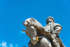 INNER MONGOLIA, CHINA - Aug 10 2015: Kublai Khan Statue at Kublai Square in Zhenglan Banner, Xilin Gol, Inner Mongolia, China. royalty free stock image