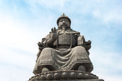 INNER MONGOLIA, CHINA - Aug 13 2015: Statue of Altan Khan (Alata Royalty Free Stock Image