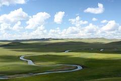 Inner Mongolia grässlätt Royaltyfri Fotografi