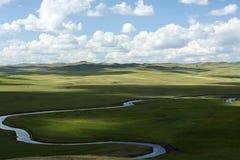Inner Mongolia grässlätt Arkivbild